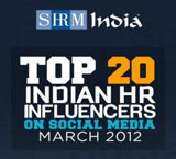 SHRM Top 20 Indian HR Incluencers on Social Media