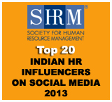 SHRM Top 20 Indian HR Incluencers on Social Media 2013